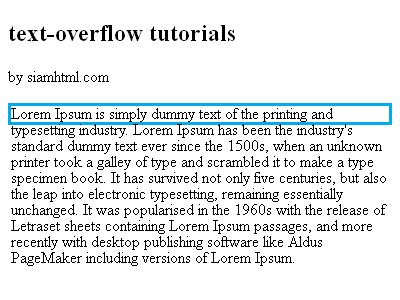 text-overflow with wrap white-space and visible overflow