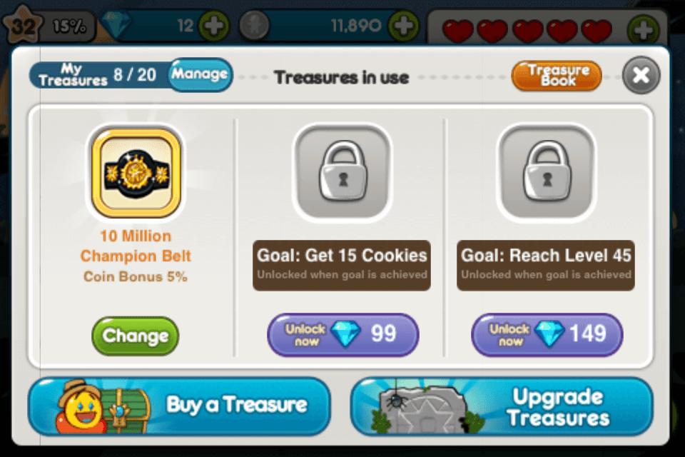 line cookie run treasure champion belt