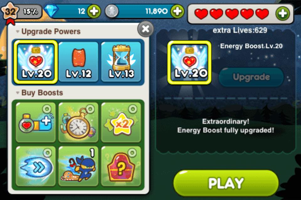 line cookie run energy upgrade